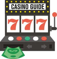 "animerad spelautomat med text ""Casino guide"""